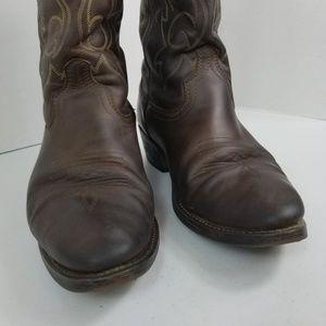 Masterson Shoes - Masterson Men's Brown Western Work Cowboy Boots 12